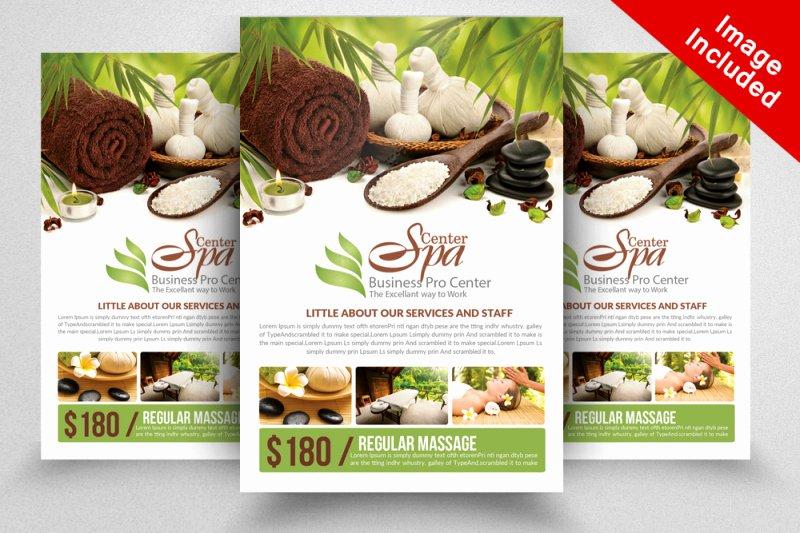 Massage Flyer Template Free Elegant Spa & Massage Flyer Template by Designhub