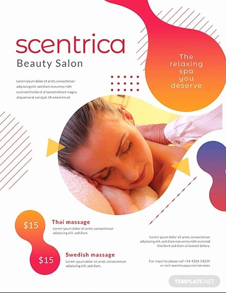 Massage Flyer Template Free Fresh 22 Best Massage Flyer Designs Word Psd Ai Eps Vector formats