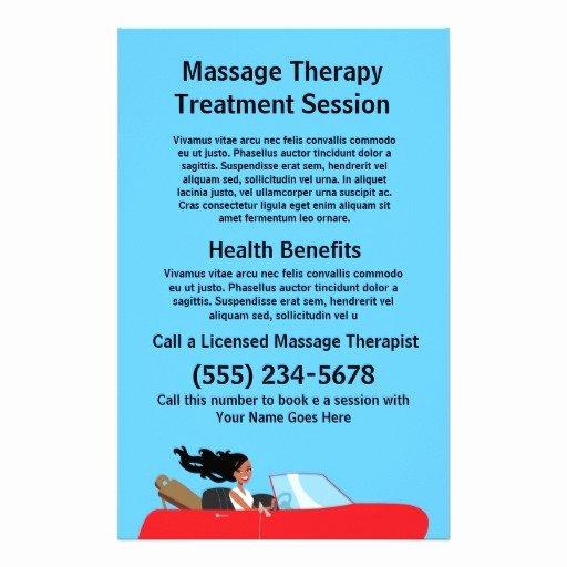 Massage Flyer Template Free Inspirational Massage therapist Flyer