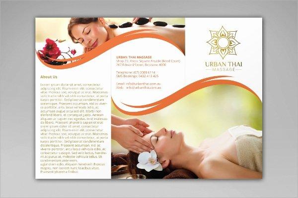 Massage Flyer Template Free Lovely 23 Massage Brochures Psd Eps format Download