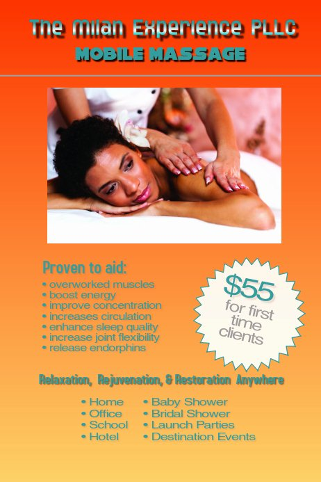 Massage Flyer Template Free Lovely Massage Template