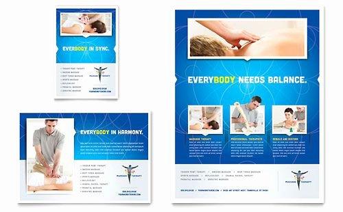 Massage Flyer Template Free Luxury Reflexology & Massage Flyer Word Template & Publisher Template