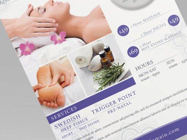 Massage Flyer Template Free New 28 Stunning Massage Flyer Templates Word Psd Eps Vector formats
