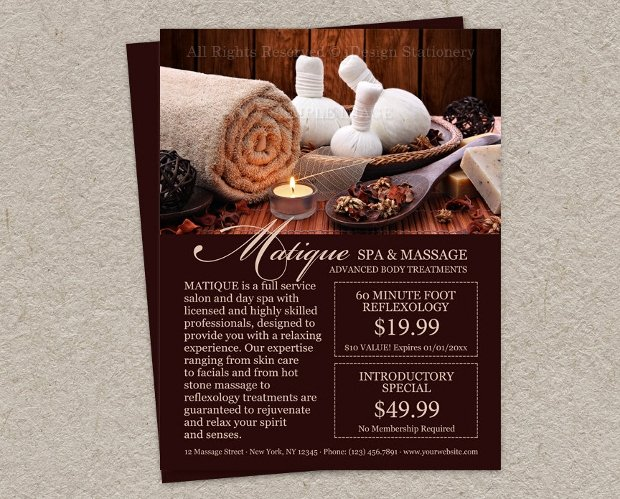 Massage Flyer Template Free Unique 22 Best Massage Flyer Designs Word Psd Ai Eps Vector formats