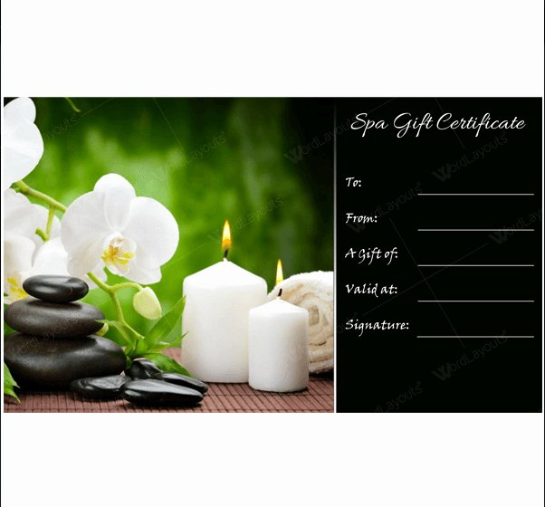 Massage Gift Certificate Template Awesome 5 Spa Gift Certificate formats to Grow Business Dotxes