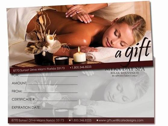 Massage Gift Certificate Template Inspirational 25 Best Images About Gift Certificates On Pinterest