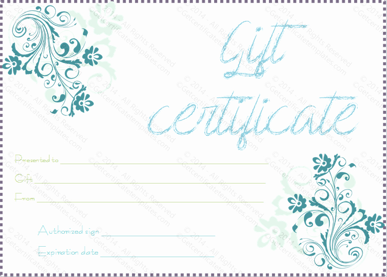 Massage Gift Certificate Template Luxury Gift Certificate Template Beautiful Printable Gift Certificate Templates