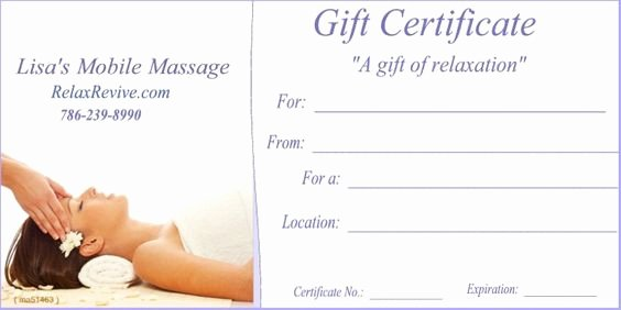 Massage Gift Certificate Template Luxury Pinterest • the World's Catalog Of Ideas