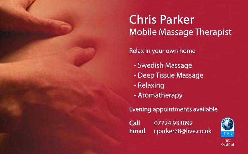 "Massage therapist Business Card Best Of Sb Web & Graphics On Twitter ""business Card Design Of A Local Nottingham Mobile Massage"