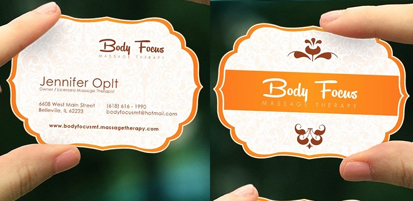 Massage therapist Business Card Fresh Massage therapist Business Card Samples & Ideas Startupguys
