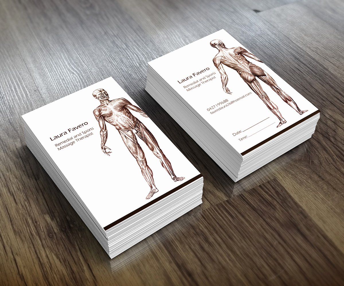 Massage therapist Business Card Inspirational 31 Professional Massage Business Card Designs for A Massage Business In Australia