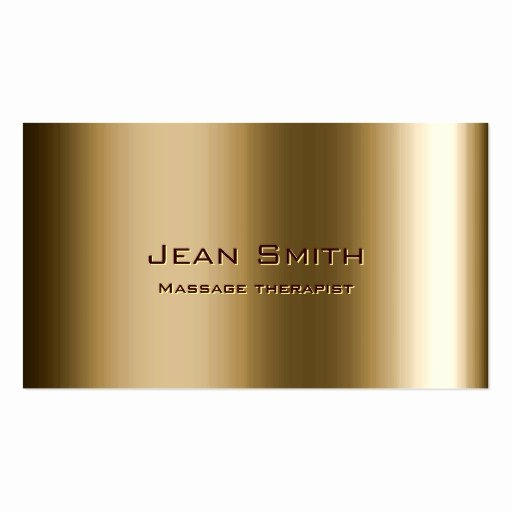 Massage therapist Business Card Inspirational Metal Bronze Massage therapist Business Card