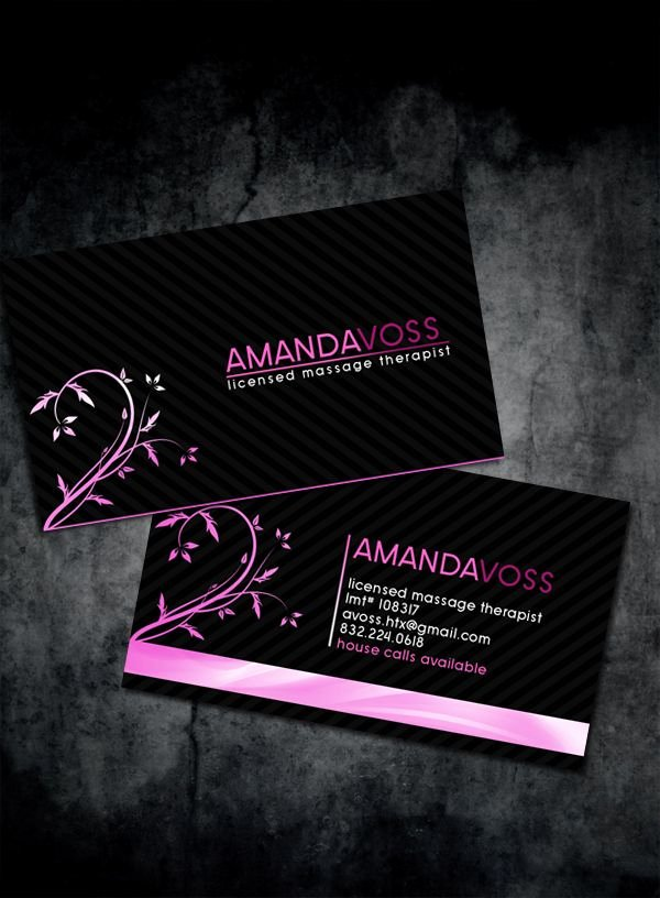 Massage therapist Business Card Inspirational Modern and Stylish Massage therapist Business Cards Templates Designed by Anthony Martin for