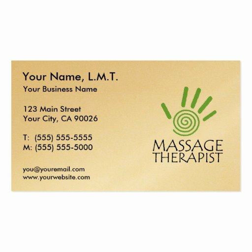 Massage therapist Business Card Luxury Massage therapy Business Cards