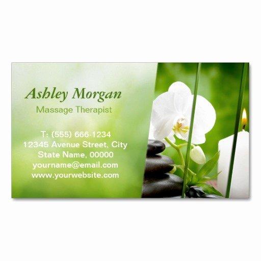 Massage therapist Business Card Unique Massage therapist Meditation Zen Spa Salon Magnetic Business Card