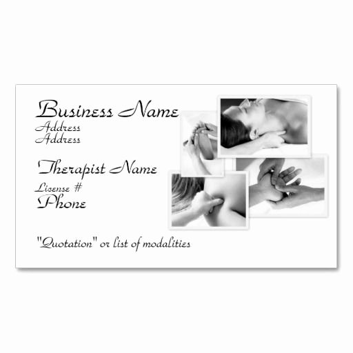 Massage therapist Business Cards Example Beautiful 305 Best Massage Business Cards Images On Pinterest