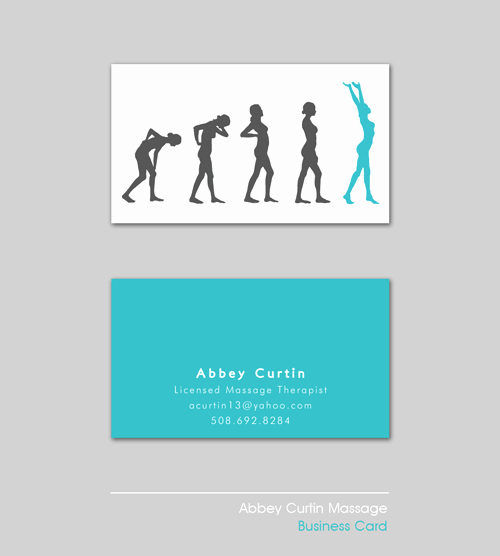 Massage therapist Business Cards Example Best Of Massage therapist Business Card On Behance