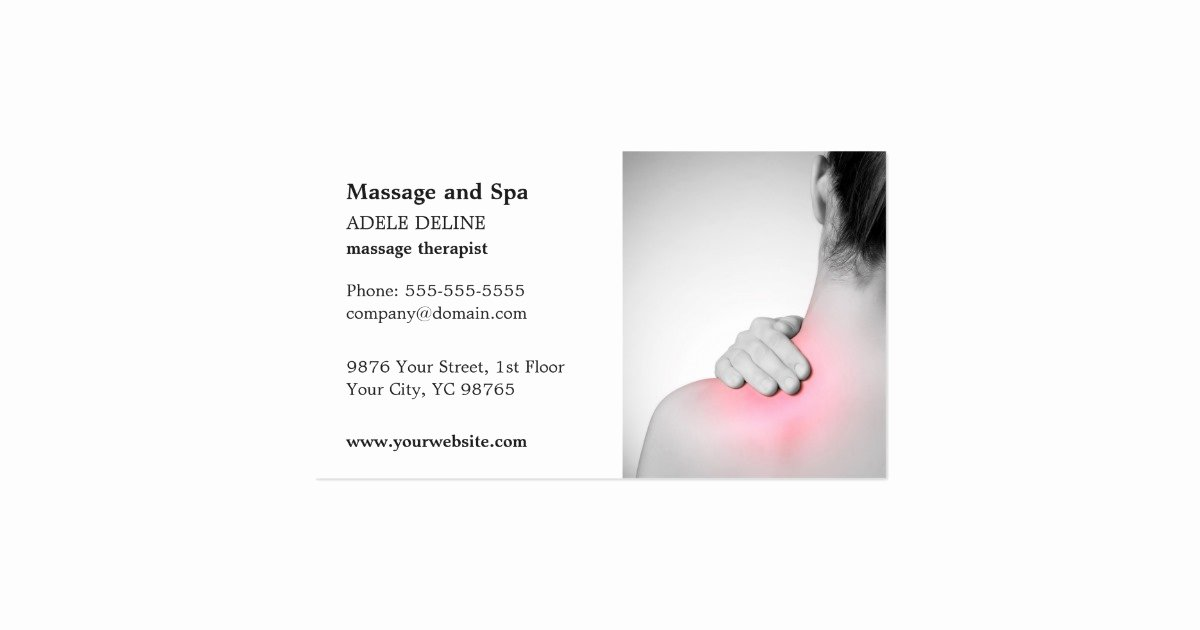 Massage therapist Business Cards Example Elegant Classic Massage therapist Business Card Template