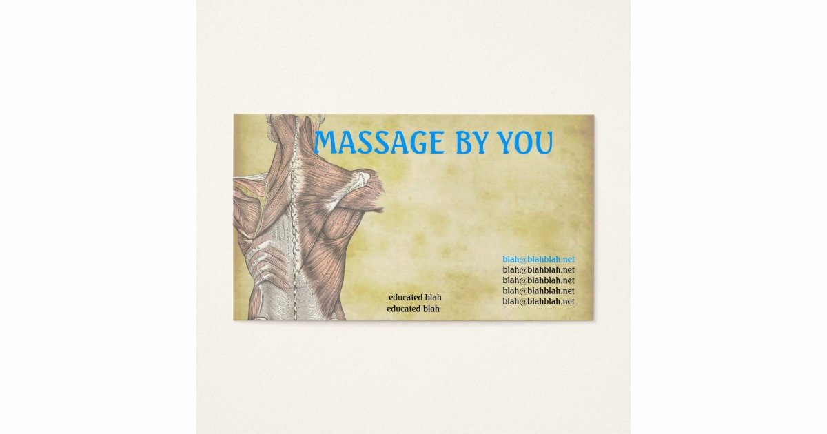 Massage therapist Business Cards Example Elegant Massage therapist Business Card Template