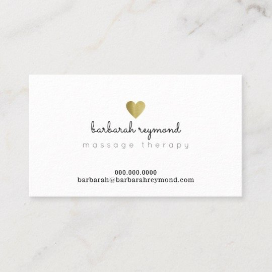 Massage therapist Business Cards Example Fresh Massage therapy Custom Profession Basic White Business Card