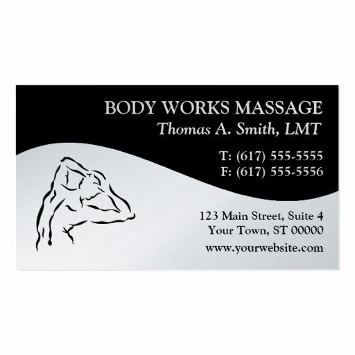 Massage therapist Business Cards Example Fresh Premium Massage Business Card Templates Page4