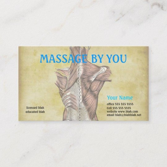Massage therapist Business Cards Example Luxury Massage therapist Business Card Template