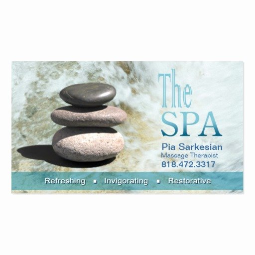 Massage therapist Business Cards Example New the Spa Massage therapist Business Card Template