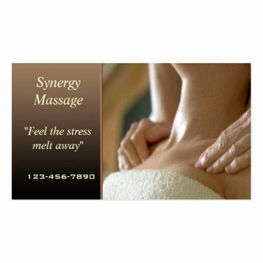 Massage therapist Business Cards Example Unique Massage therapy Business Card