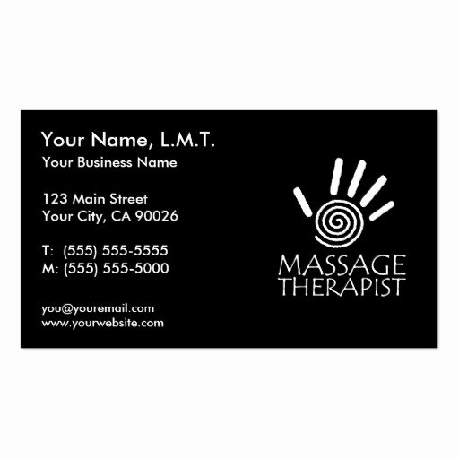 Massage therapy Business Cards Awesome Massage therapy Business Cards