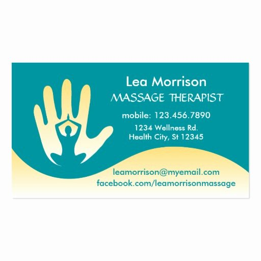 Massage therapy Business Cards Awesome Modern Massage therapist Business Card
