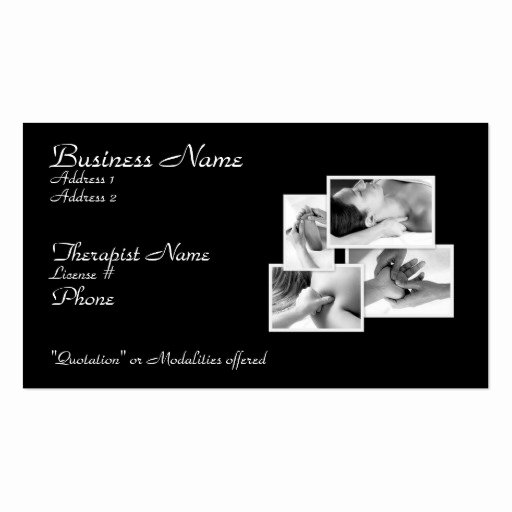 Massage therapy Business Cards Beautiful Massage therapy Appointment Business Card