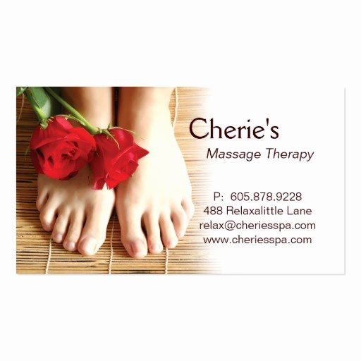 Massage therapy Business Cards Elegant 311 Spa Salon Massage therapy Business Card