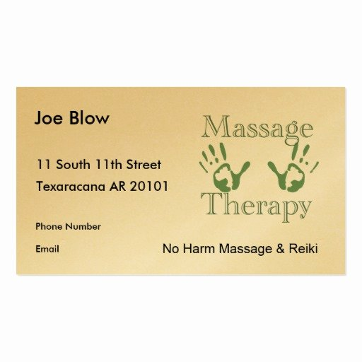 Massage therapy Business Cards Unique Massage therapy Hand Prints Double Sided Standard Business Cards Pack Of 100
