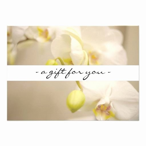 Massage therapy Gift Certificate Template Best Of White orchids Printed Gift Certificate Template Two Sided Full Color Click to Personalize