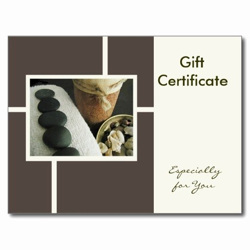 Massage therapy Gift Certificate Template Elegant 29 Of Massage Gift Certificate Template
