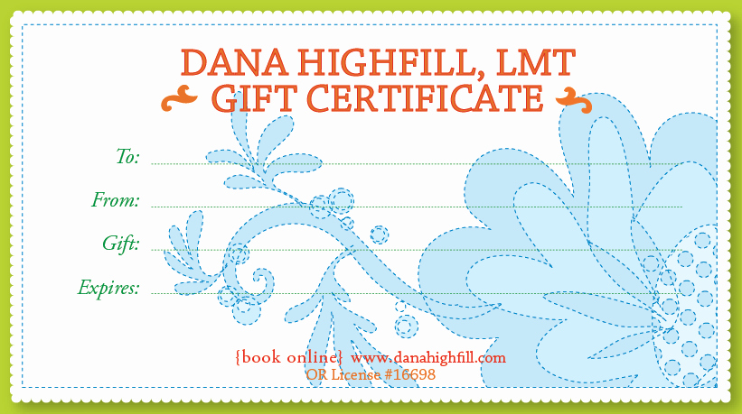 Massage therapy Gift Certificate Template Luxury Being Present Massage Gift Certificates $15 $45