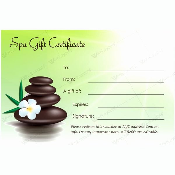Massage therapy Gift Certificate Template Unique 10 Best Gift Certificate Images On Pinterest