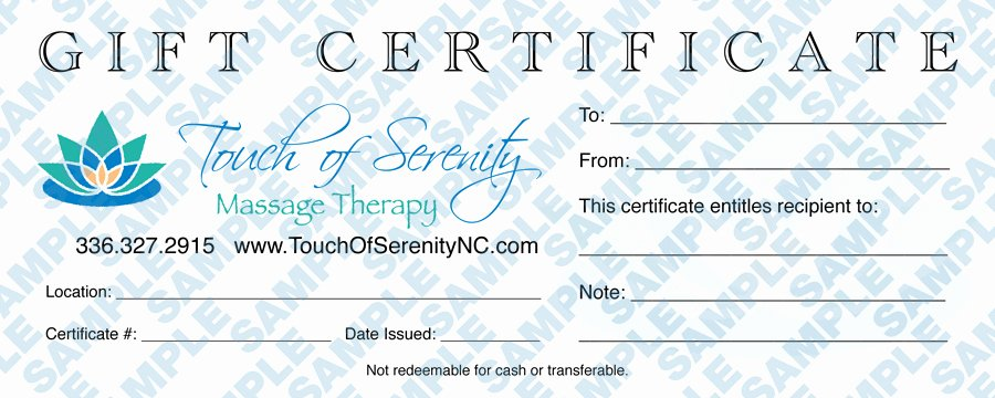 Massage therapy Gift Certificate Template Unique Gift Certificates