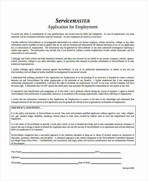 Master Application for Employment Inspirational 33 Job Application Templates