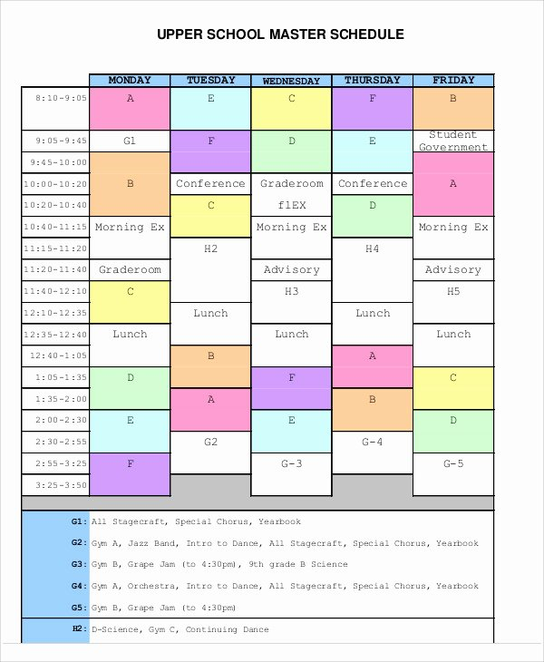 Master Production Schedule Excel Elegant Master Schedule Templates 11 Free Samples Examples format Download