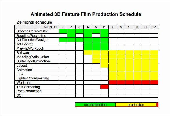 Master Production Schedule Excel Luxury Video Production Schedule Template