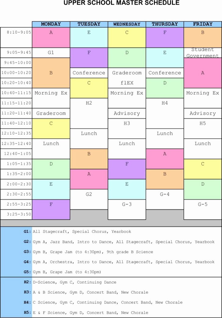 Master Production Schedule Template Excel Luxury Master Schedule Templates