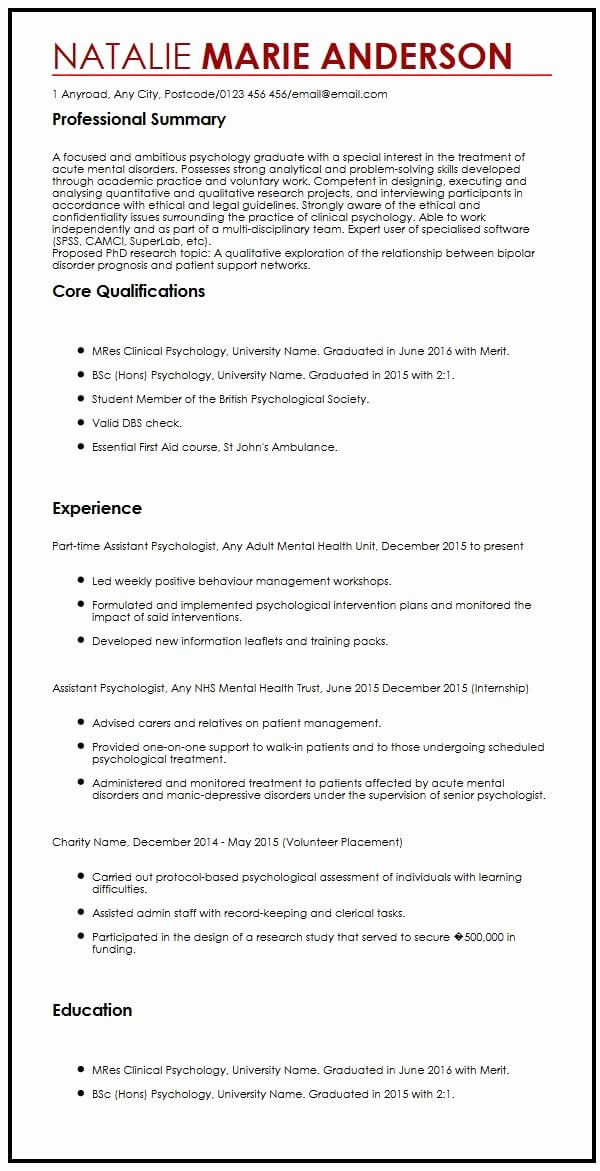 Masters Candidate Email Signature New 11 Graduate Student Cv Sample
