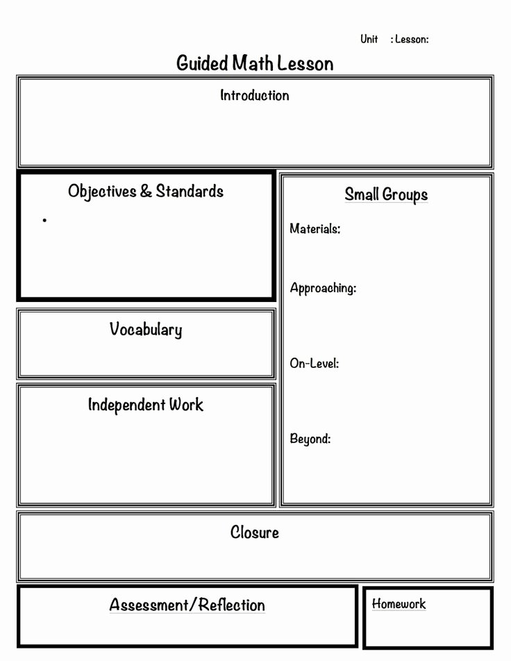 Math Lesson Plan Template Best Of 1000 Images About Math Blended Learning Resources On Pinterest