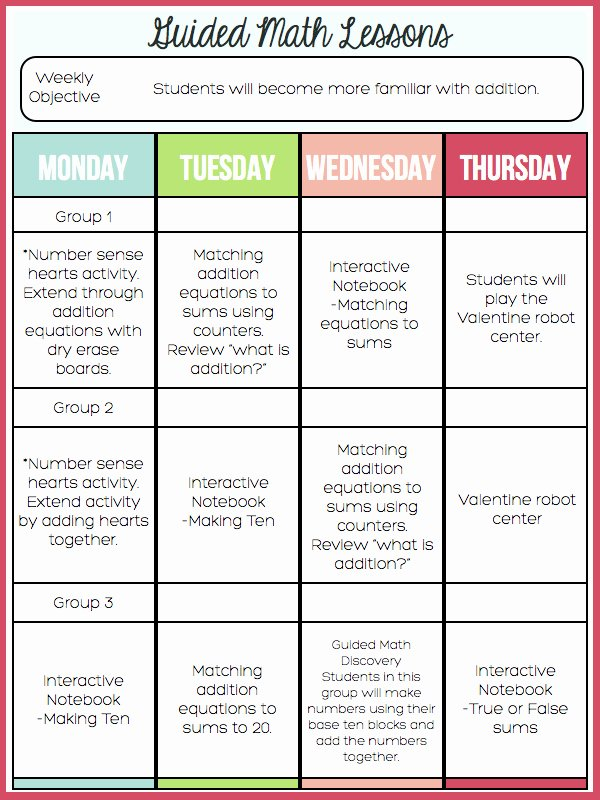 Math Lesson Plan Template Inspirational A Day In First Grade