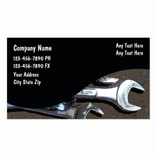 Mechanic Business Cards Templates Free Awesome Mobile Mechanic Business Card Templates