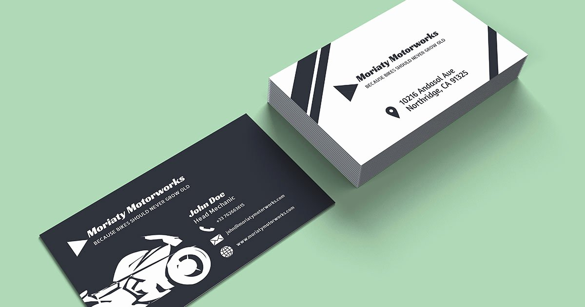 Mechanic Business Cards Templates Free Inspirational 10 Automotive Business Card Templates Fully Customisable Line