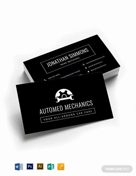 Mechanic Business Cards Templates Free Unique 25 Automotive Business Card Templates Ms Word Illustrator Apple Pages