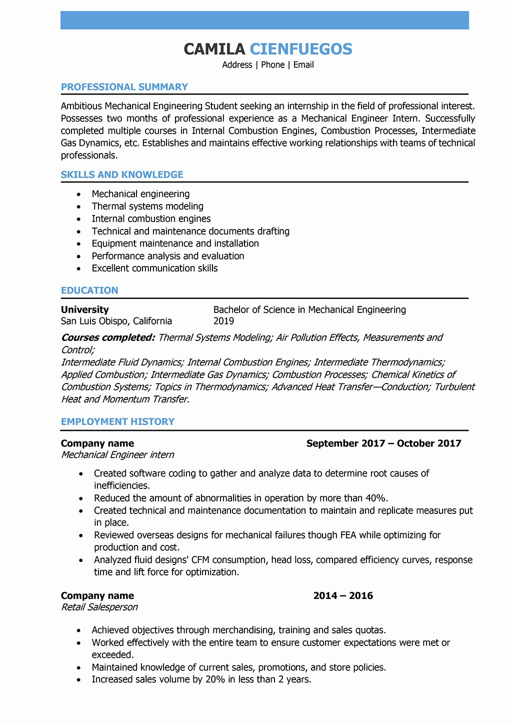 Mechanical Engineer Resume Sample Awesome Mechanical Engineer Resume Samples and Writing Guide