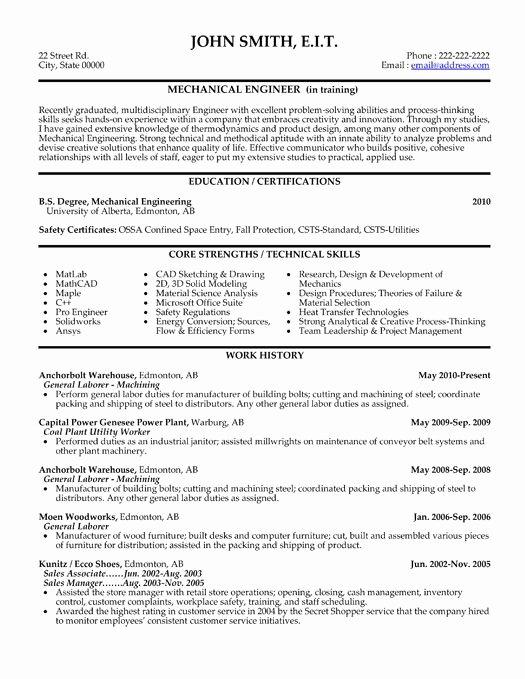 Mechanical Engineer Resume Template Best Of Here to Download This Mechanical Engineer Resume